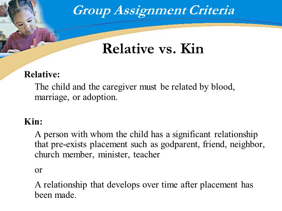 Group Assignment Criteria