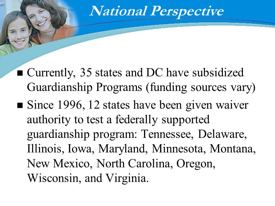 National Perspective Enter page title here! Fostering Results