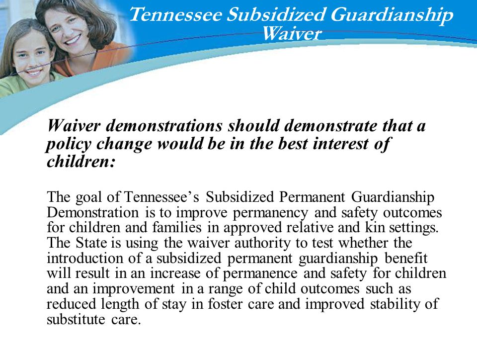Tennessee Subsidized Guardianship Waiver