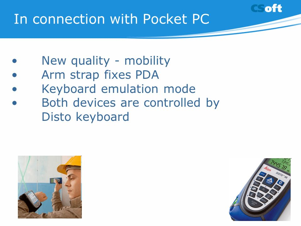 In connection with Pocket PC
