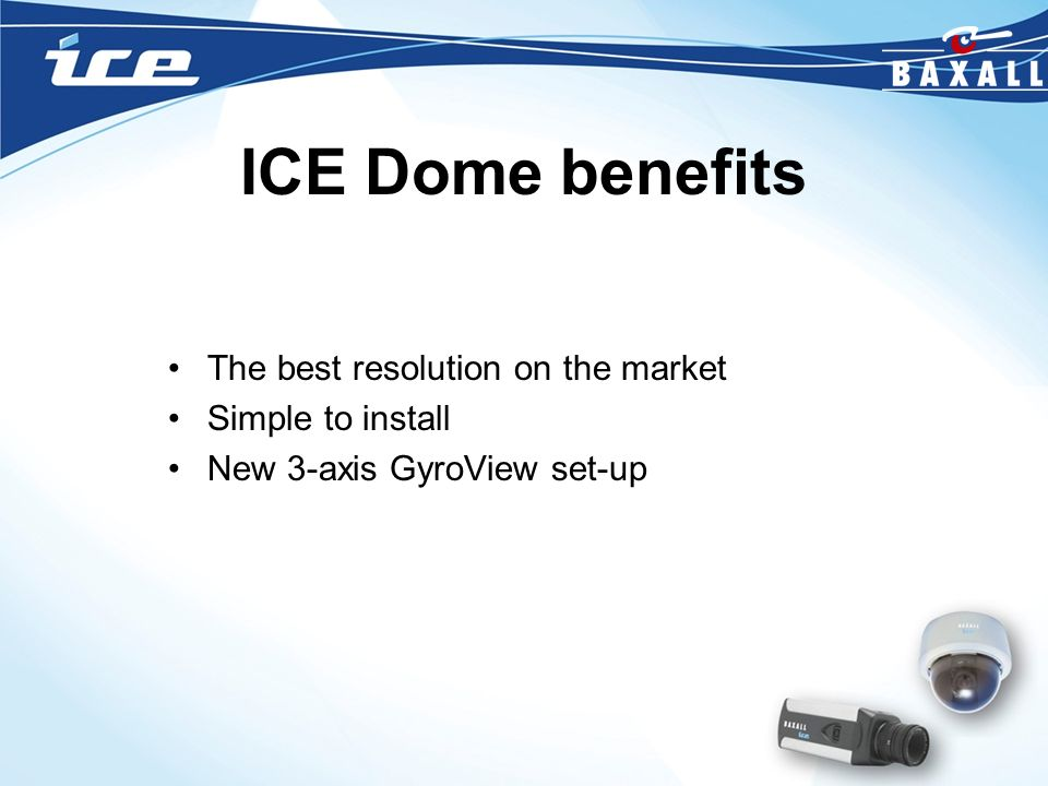 ICE Dome benefits The best resolution on the market Simple to install