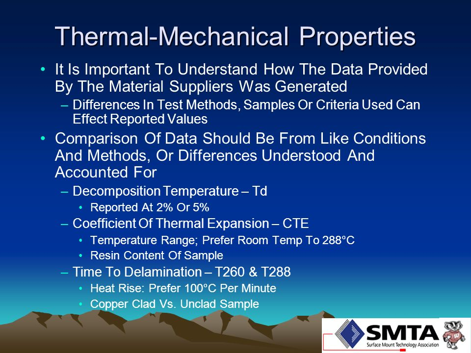 Thermal-Mechanical Properties