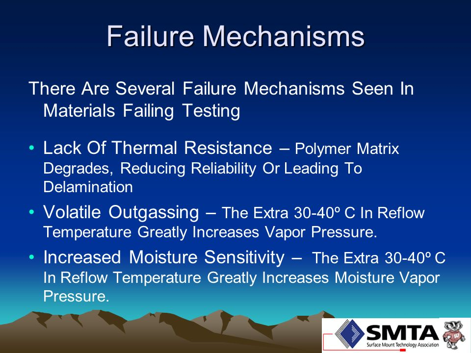 Failure Mechanisms There Are Several Failure Mechanisms Seen In Materials Failing Testing.