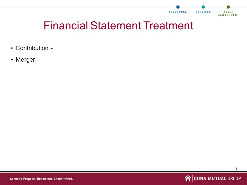 Financial Statement Treatment