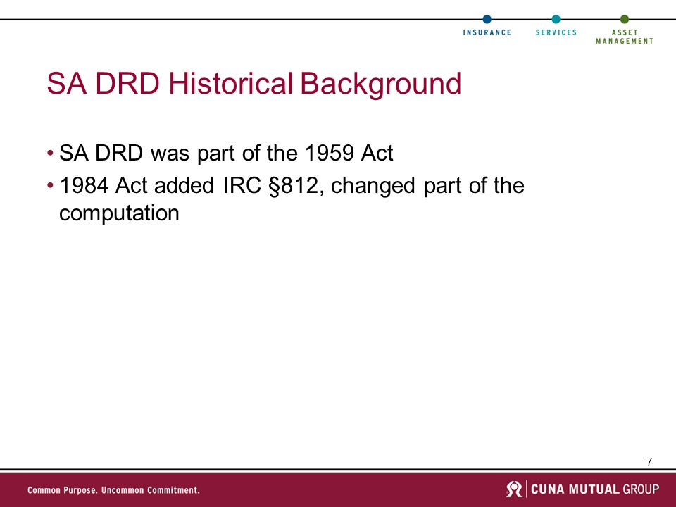 SA DRD Historical Background