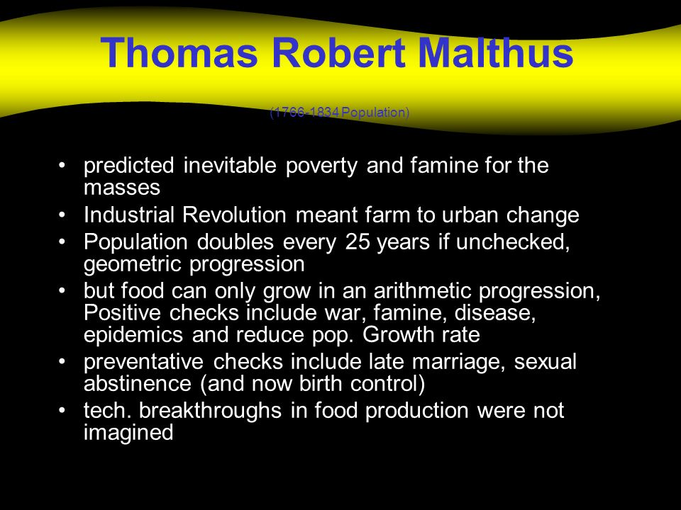 Thomas Robert Malthus ( Population)