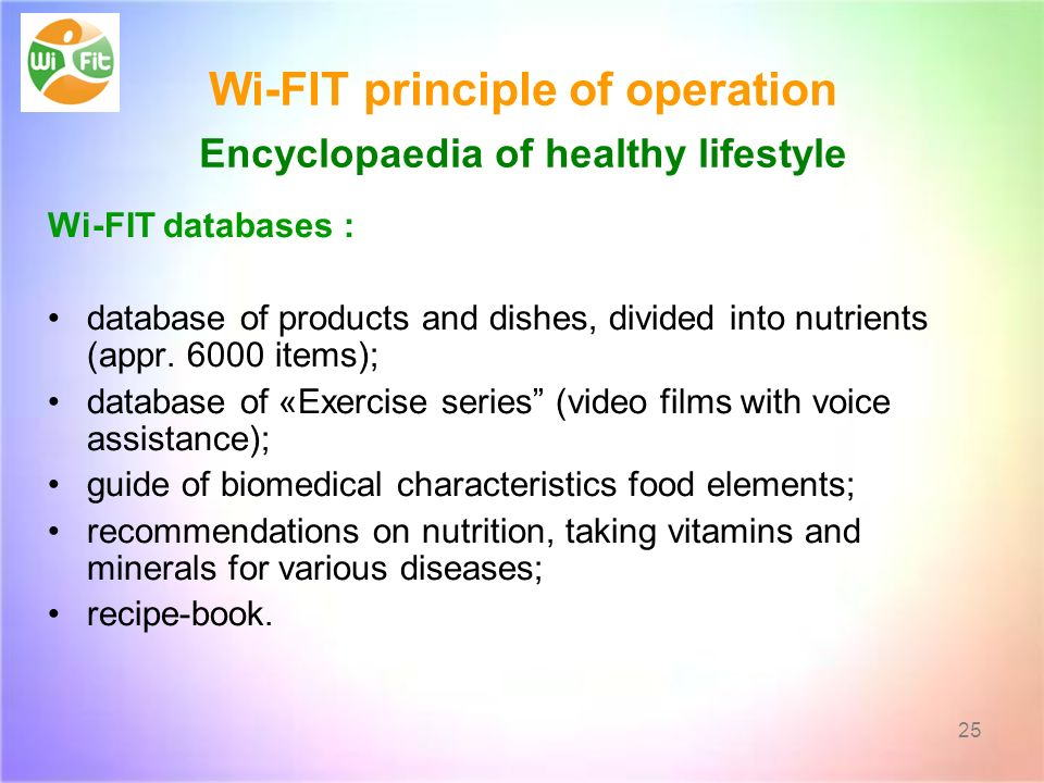 Wi-FIT principle of operation Encyclopaedia of healthy lifestyle