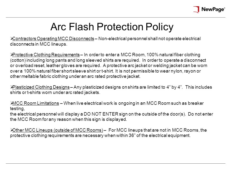 Specific safety procedures ppt download for Arc flash policy template