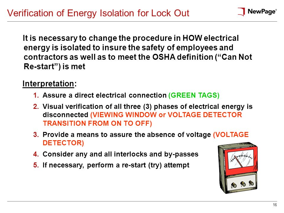 Verification of Energy Isolation for Lock Out