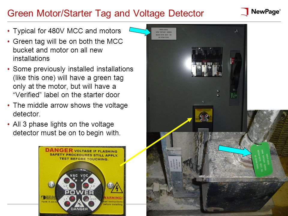 Green Motor/Starter Tag and Voltage Detector