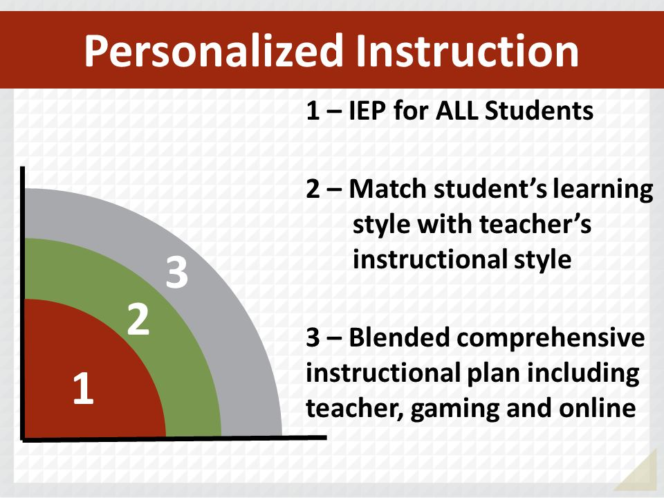 Personalized Instruction