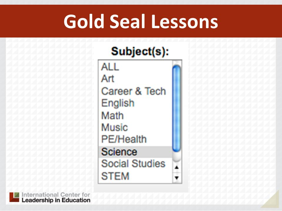 Gold Seal Lessons 147