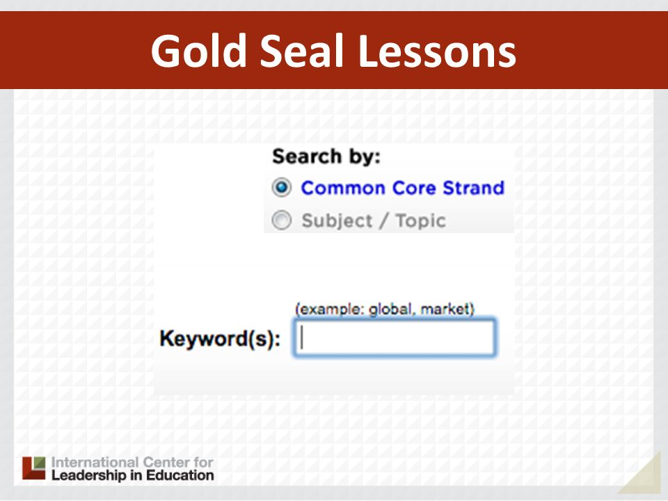 Gold Seal Lessons 148
