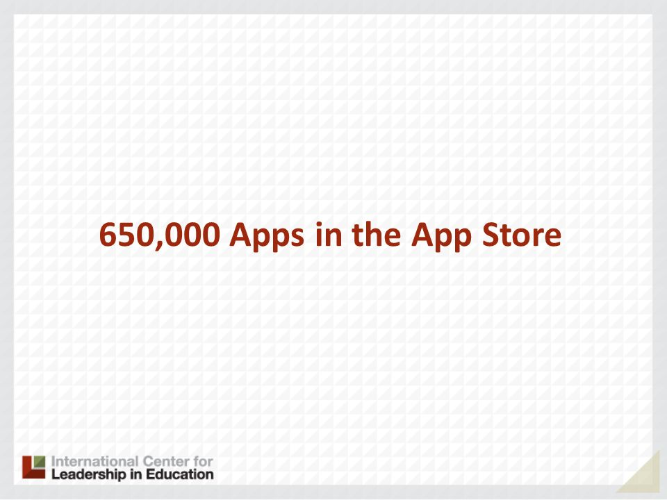 650,000 Apps in the App Store