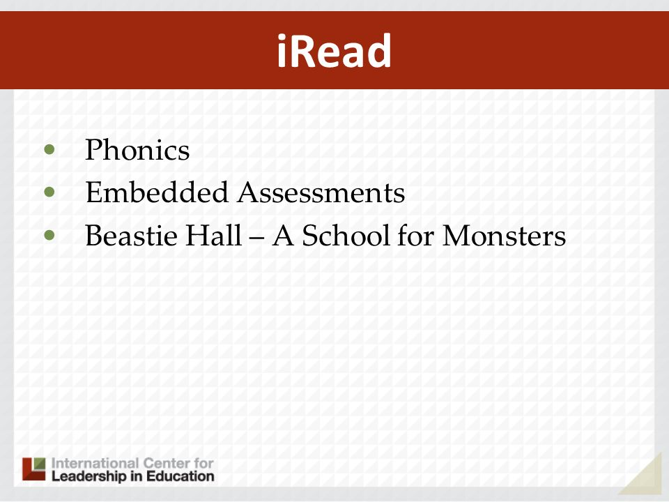 iRead Phonics Embedded Assessments