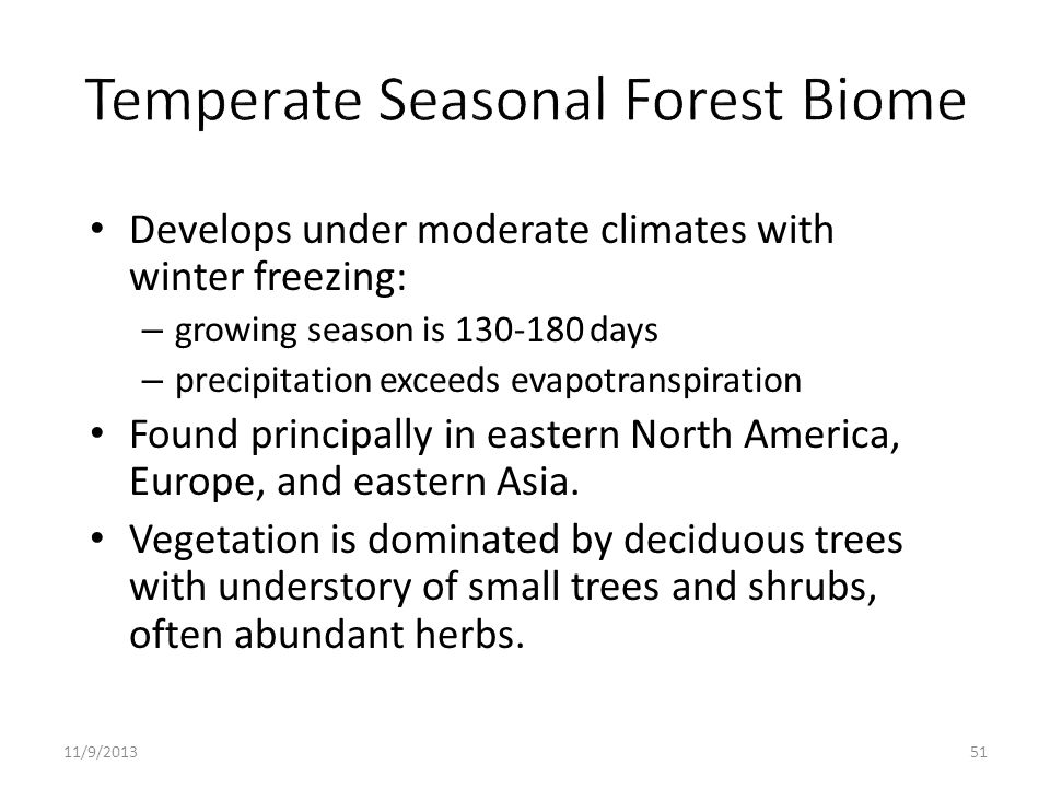 Temperate Seasonal Forest Biome