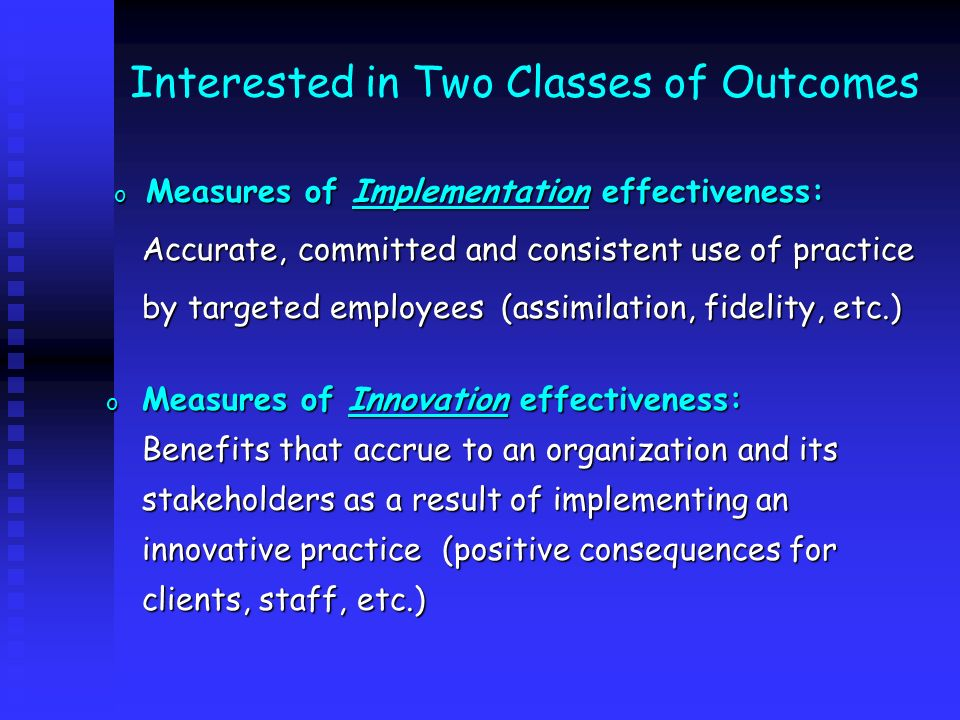 Interested in Two Classes of Outcomes