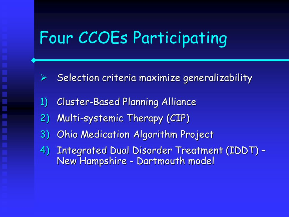 Four CCOEs Participating