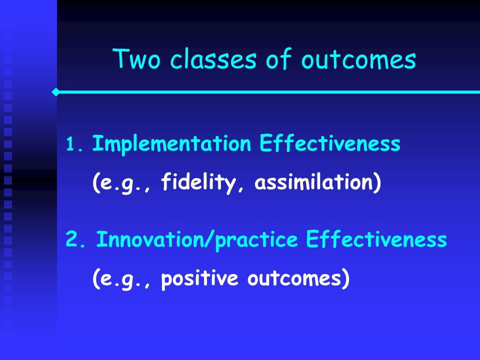 Two classes of outcomes