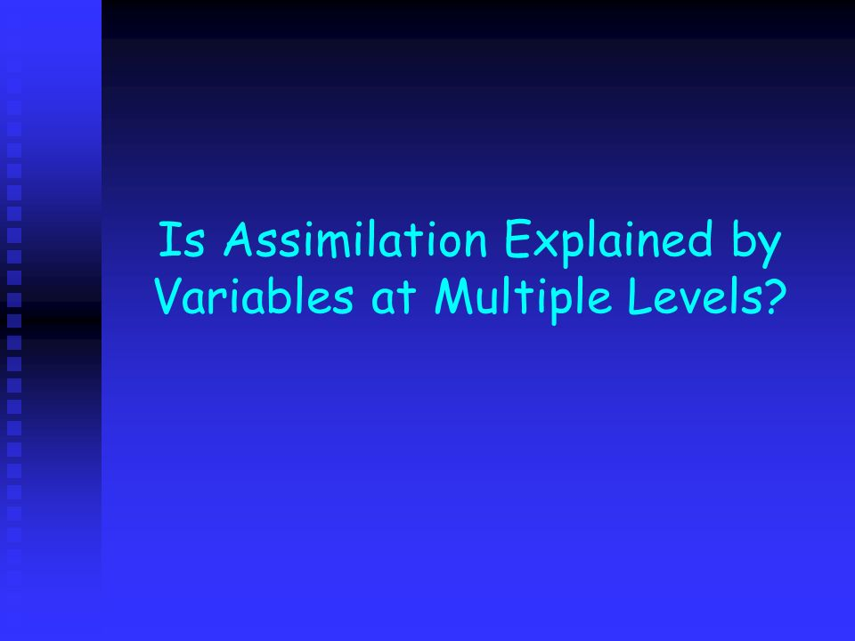 Is Assimilation Explained by Variables at Multiple Levels