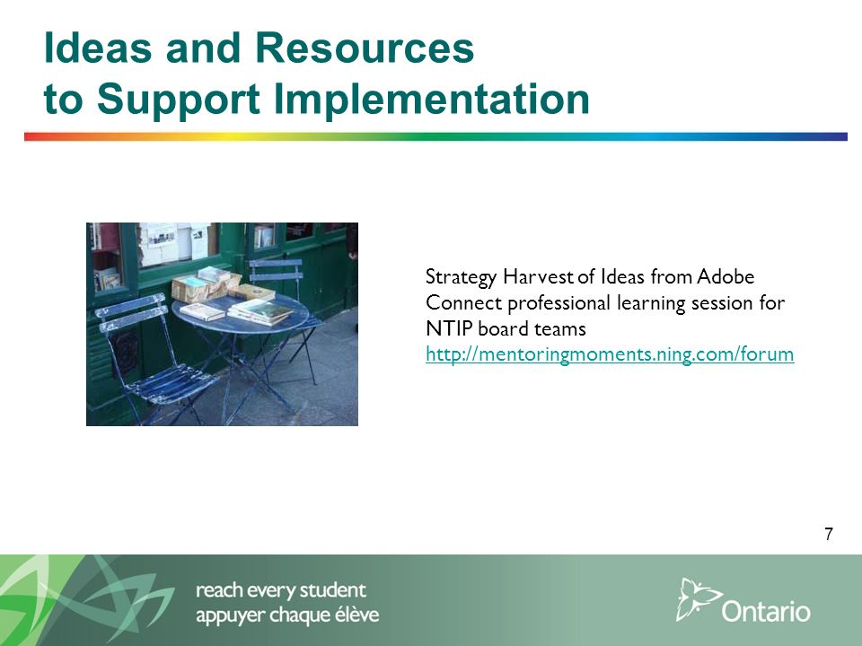 Ideas and Resources to Support Implementation