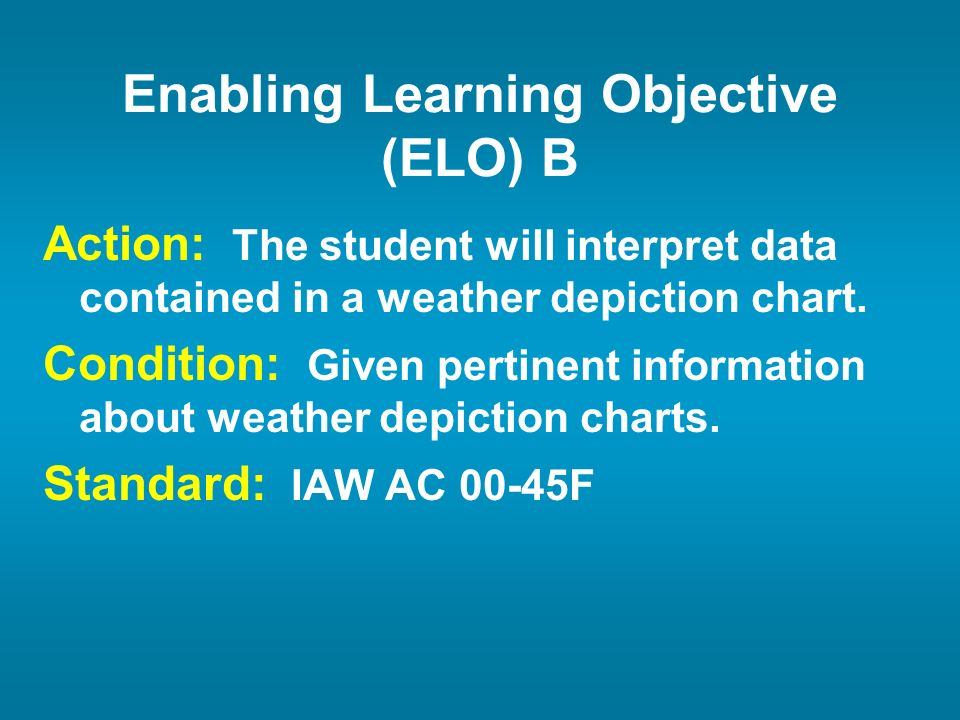 Enabling Learning Objective (ELO) B