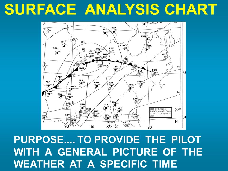 SURFACE ANALYSIS CHART