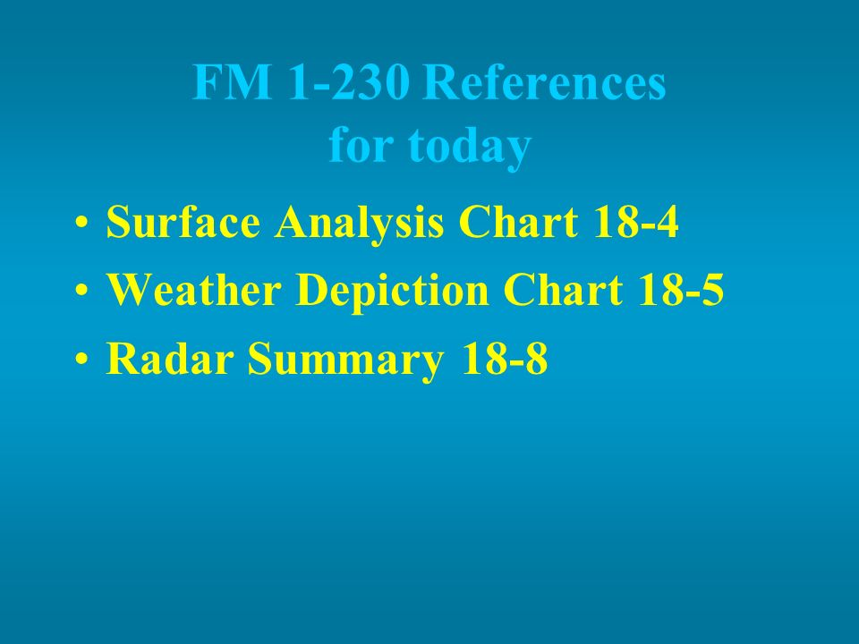 FM 1-230 References for today