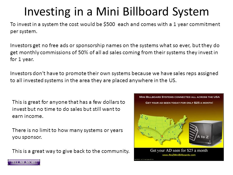 Investing in a Mini Billboard System