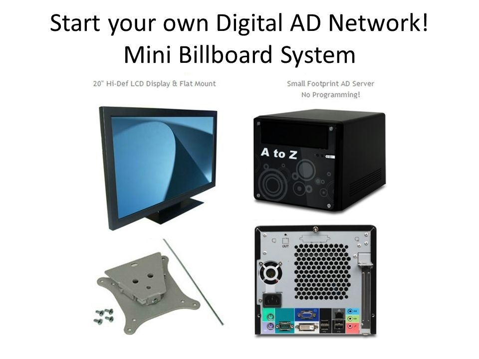 Start your own Digital AD Network! Mini Billboard System