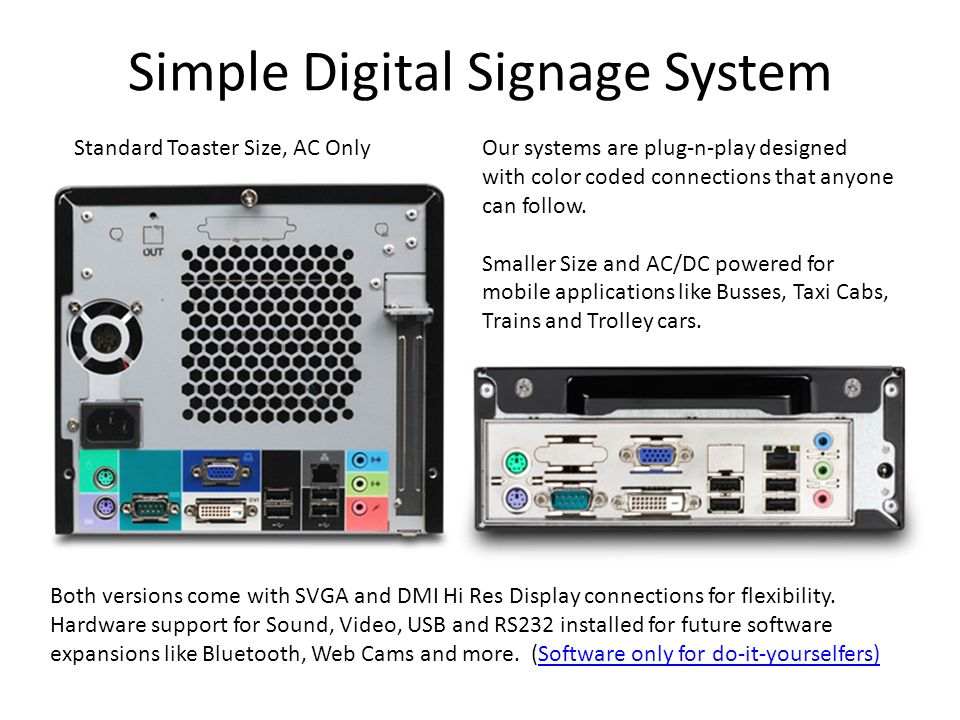 Simple Digital Signage System
