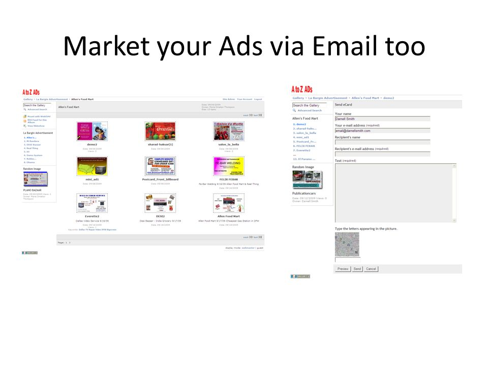 Market your Ads via Email too
