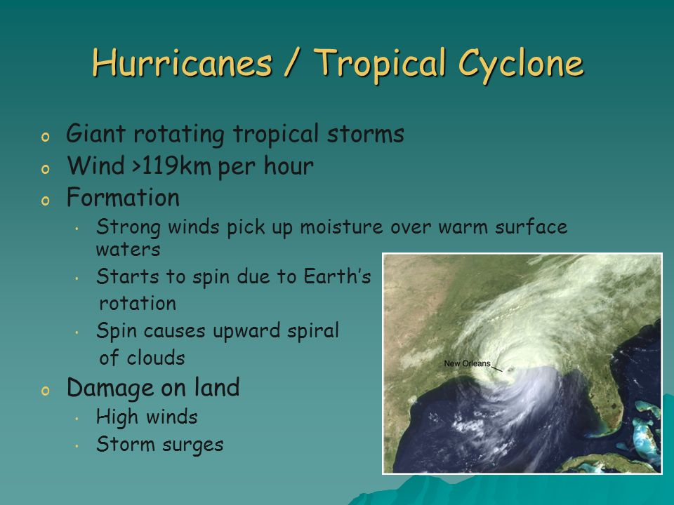 Hurricanes / Tropical Cyclone