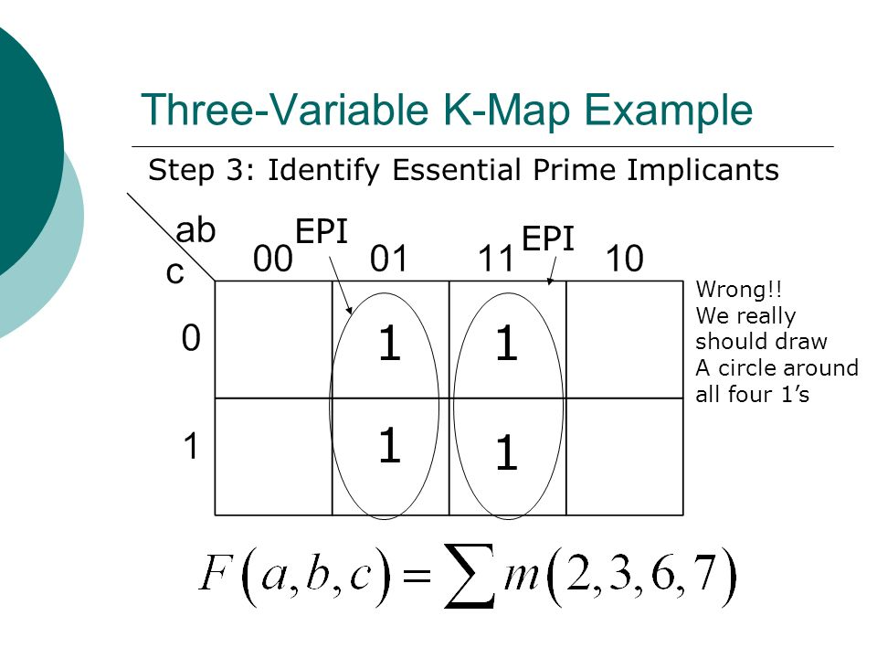 Three-Variable K-Map Example