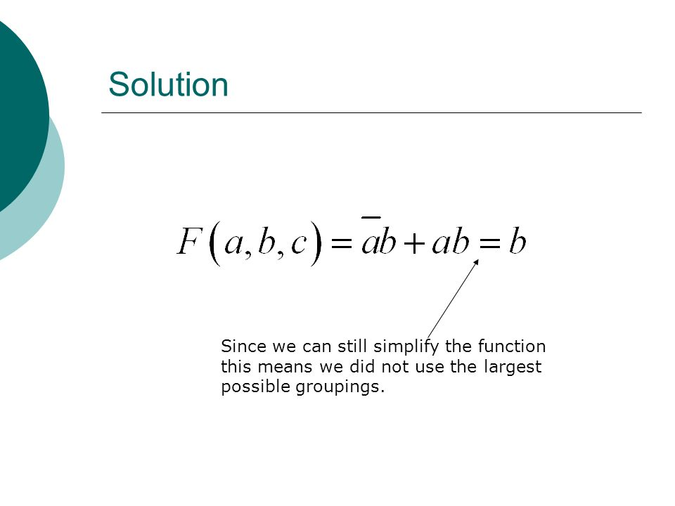 Solution Since we can still simplify the function