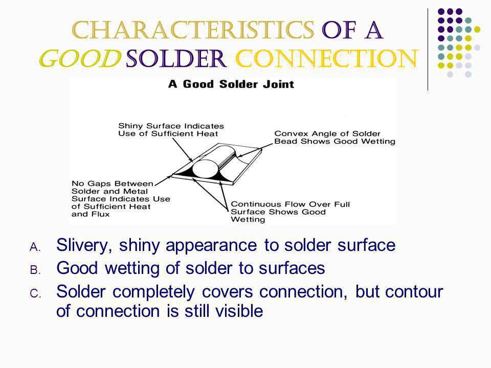 Characteristics of a Good Solder Connection