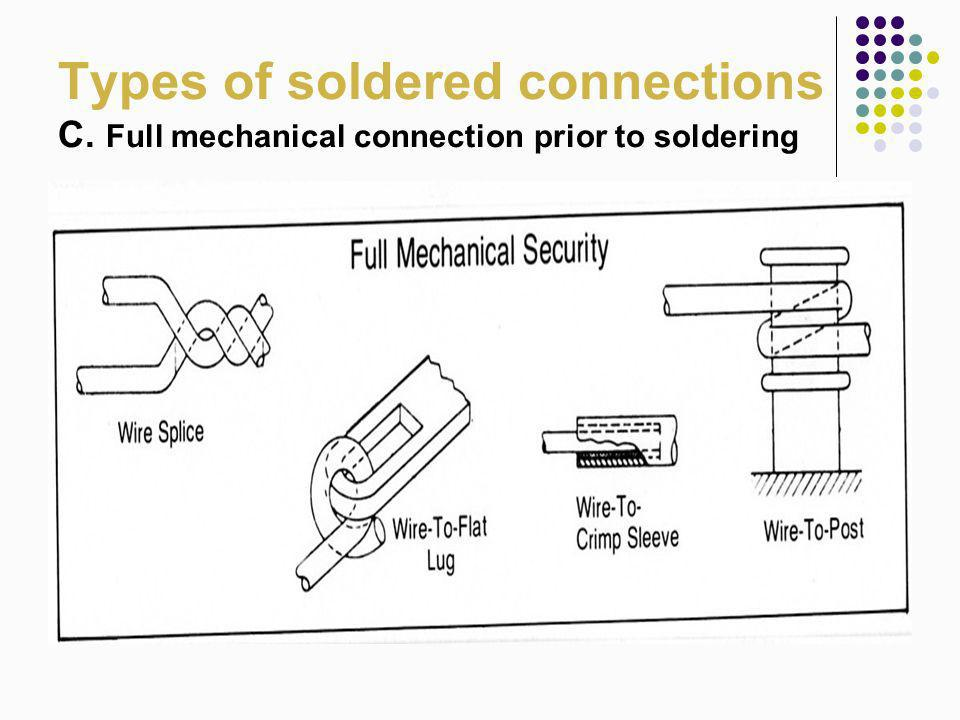 Types of soldered connections C