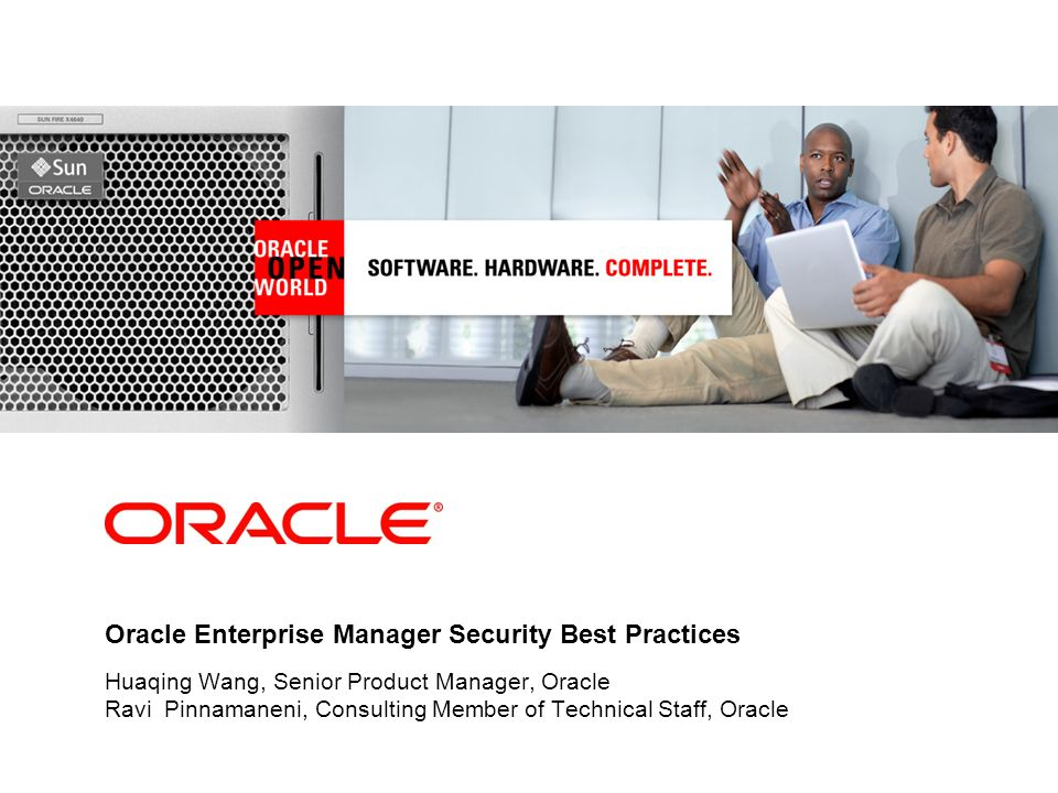 Oracle Enterprise Manager Security Best Practices