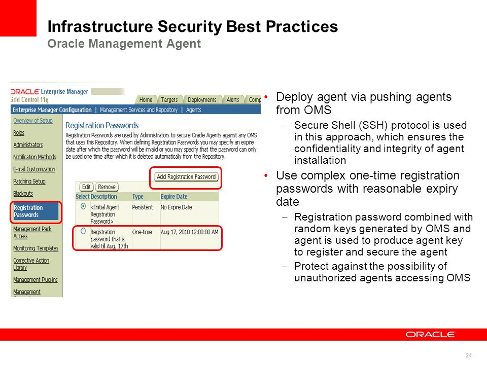Infrastructure Security Best Practices Oracle Management Agent