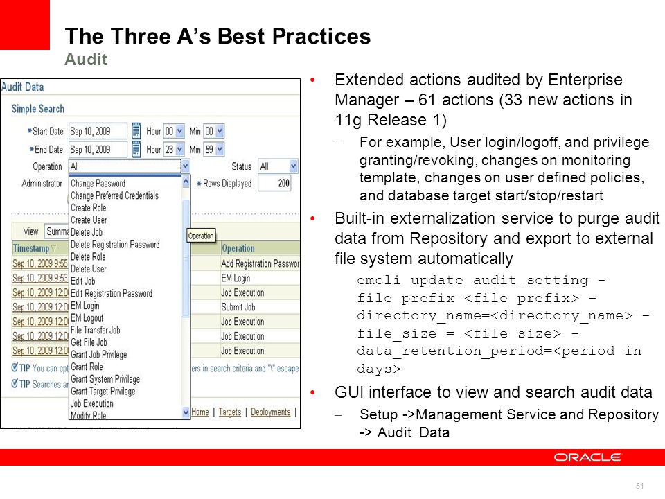 The Three A's Best Practices Audit