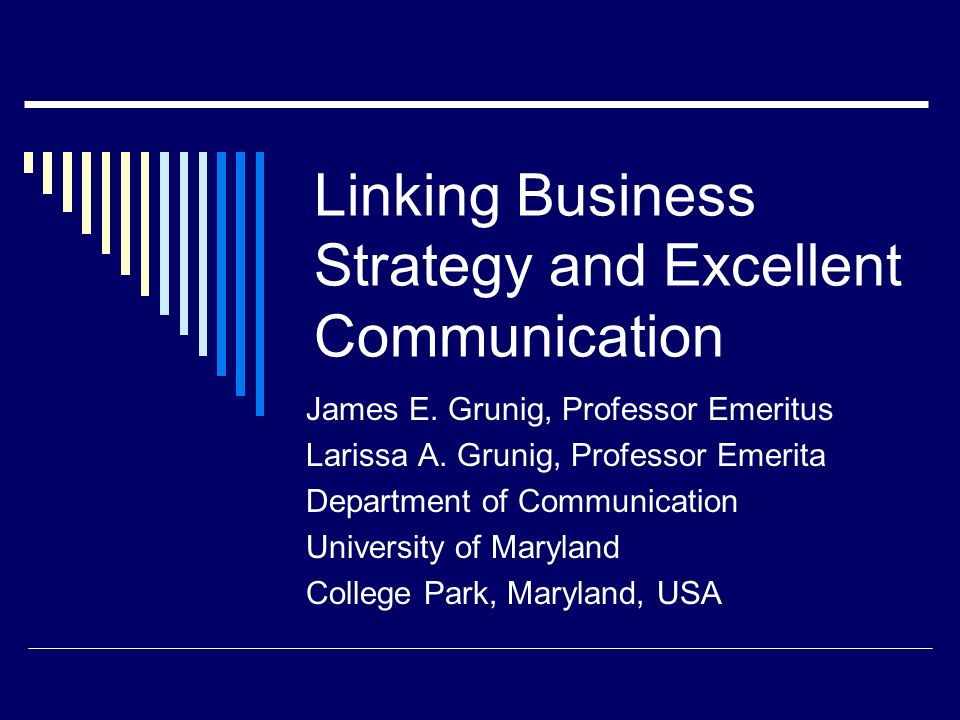 Linking Business Strategy and Excellent Communication