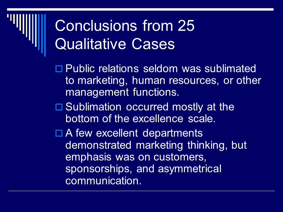 Conclusions from 25 Qualitative Cases