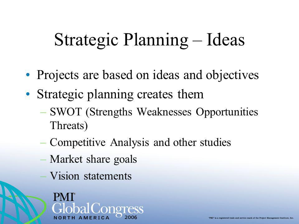 Strategic Planning – Ideas