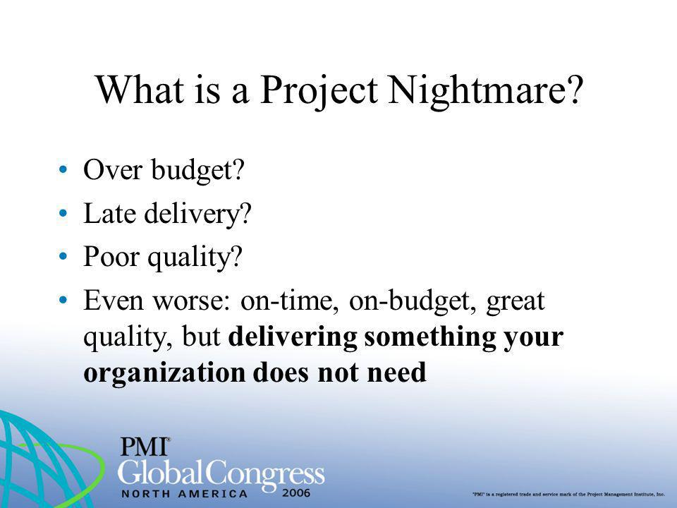 What is a Project Nightmare