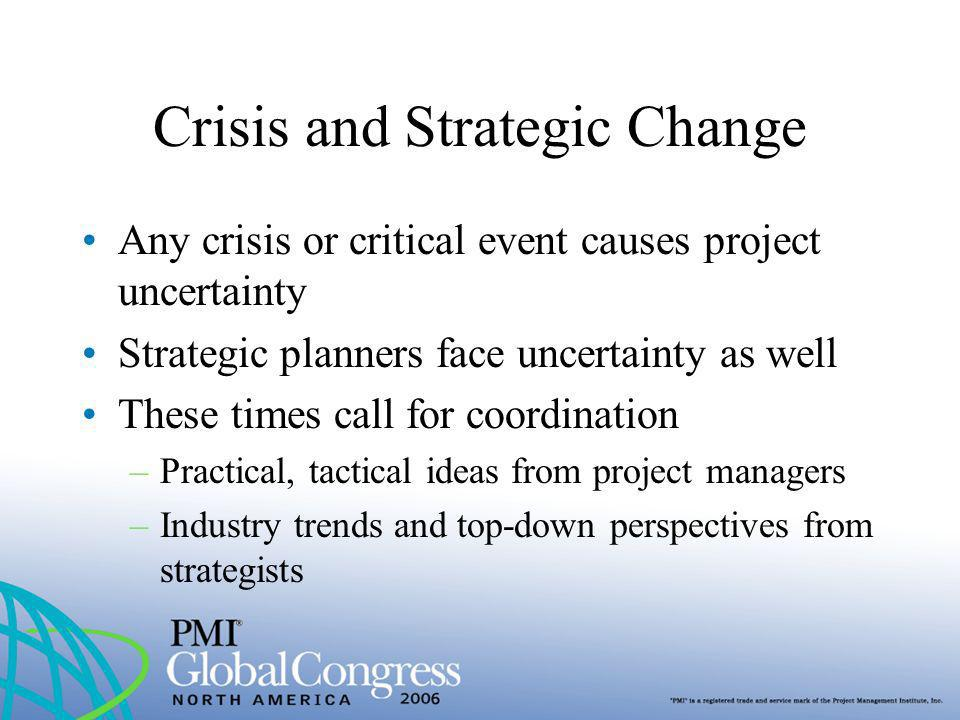 Crisis and Strategic Change