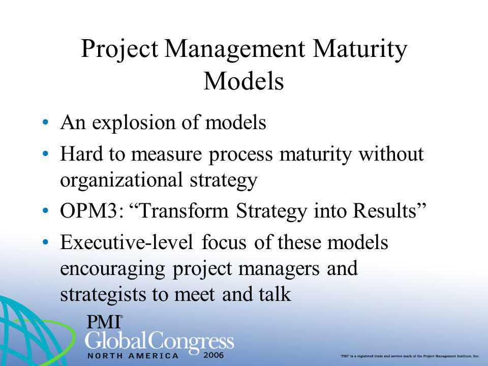 Project Management Maturity Models