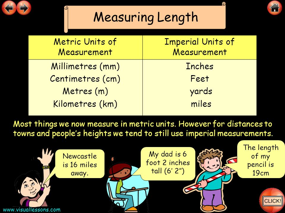 Measuring Length Metric Units of Measurement