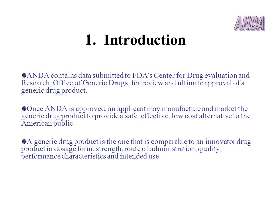 ANDA 1. Introduction.