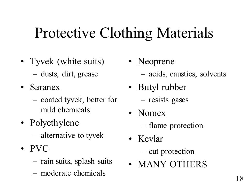 Protective Clothing Materials