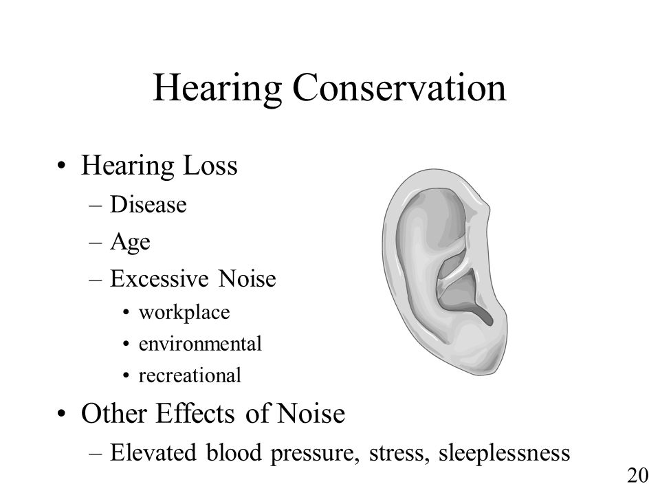 Hearing Conservation Hearing Loss Other Effects of Noise Disease Age